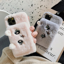 Load image into Gallery viewer, Cat Plush Warm Phone Case for iPhone