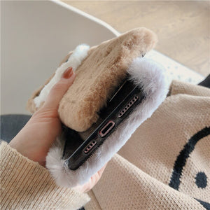 3D Cat Plush Phone Case For iPhone