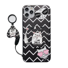 Load image into Gallery viewer, Mirror Phone Cat Case For IPhone/Samsug/Huawei