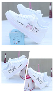 Women Casual Shoes Printed Cute Cat