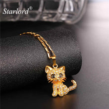 Load image into Gallery viewer, Gold Color Cat Pendant