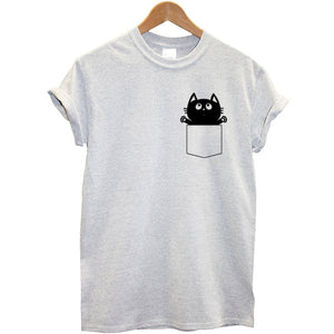Cat Printed Women T shirt