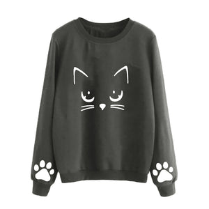 T-shirt women long sleeve cat