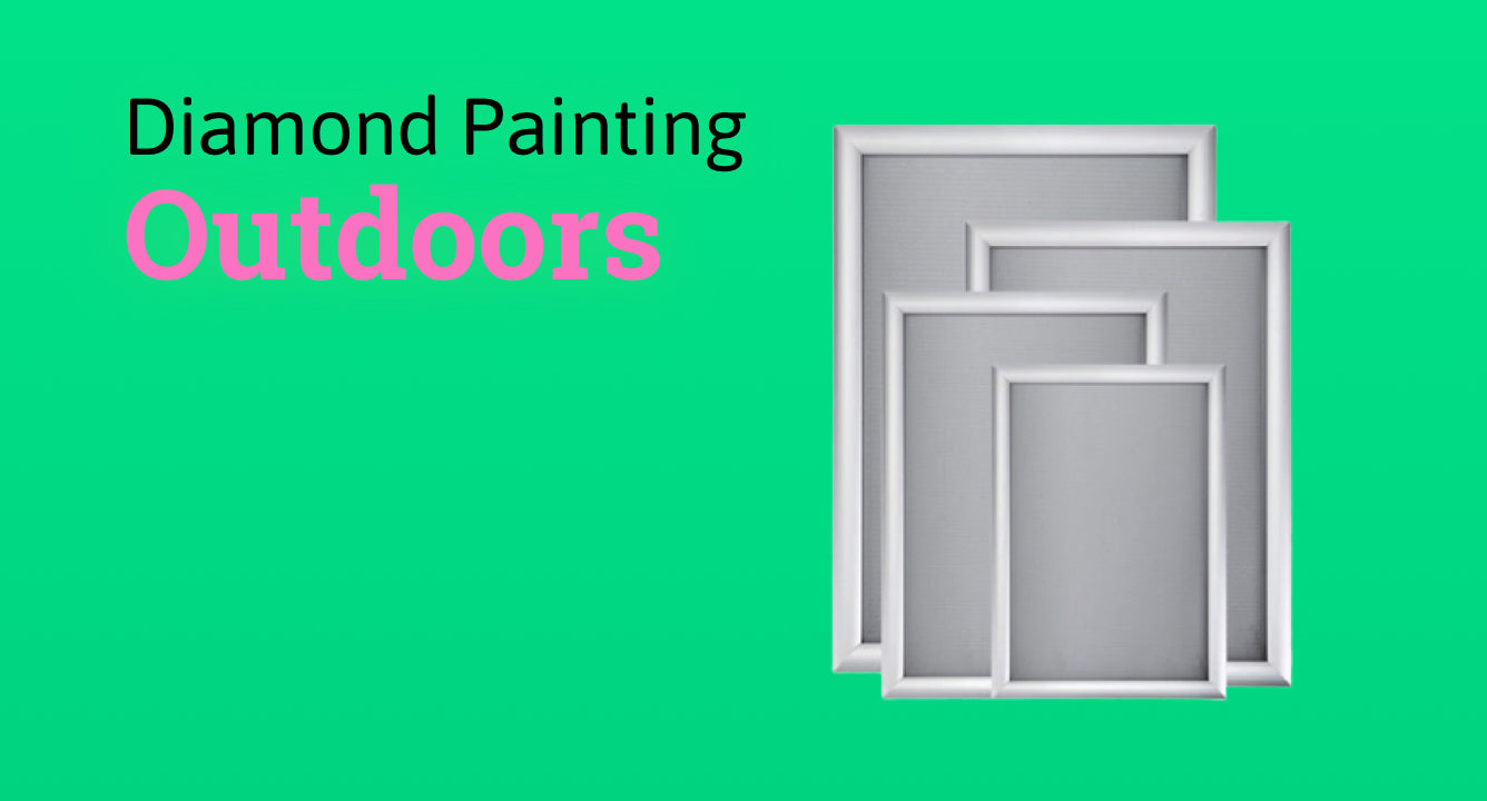 Frame and display your diamond painting outdoors