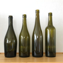 Wine bottles come in different shapes