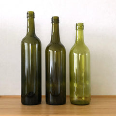 Wine bottles come in different sizes