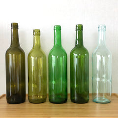 Wine bottles come in different colours