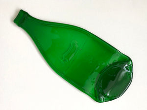 Pellegrino bottle platter (green, flat)