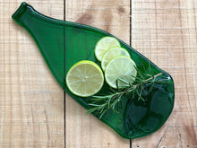 Load image into Gallery viewer, Pellegrino bottle platter (green, flat)