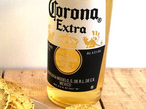 Double Corona beer bottle dish