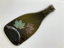 Load image into Gallery viewer, Wine bottle platter & cheese board with grape wine decals (brown/green, flat)