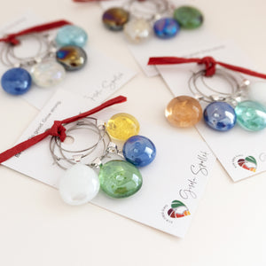 Wine glass charms - medium, set of 4