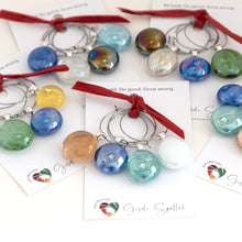 Load image into Gallery viewer, Wine glass charms - medium, set of 4