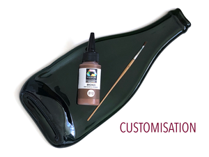 We can personalise / customise our flat wine bottle cheese boards and platters for you.