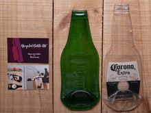 Load image into Gallery viewer, Flattened beer bottles to use as serving dish