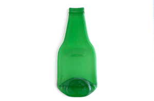 Beer bottle dish (green, flat)