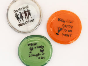 Wine Meme Magnets, Set of 3 (large circles)