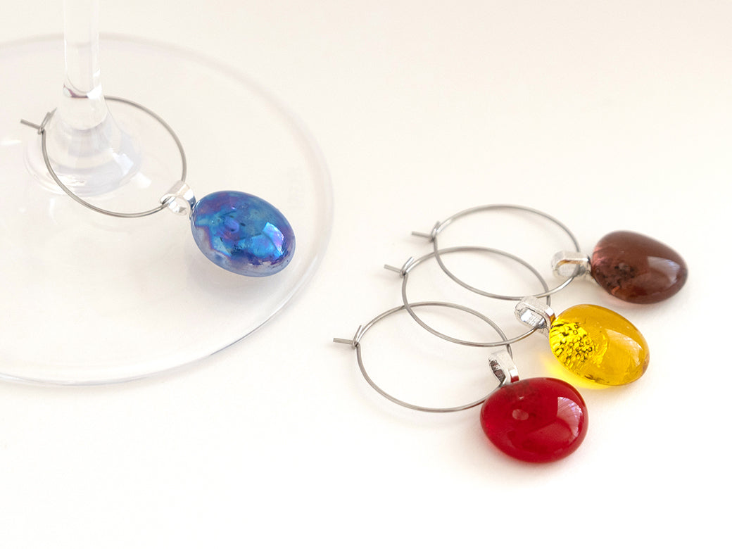 Wine glass charms - small, set of 4