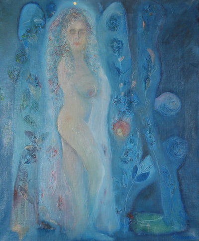 Peace Woman power Relations blue Art