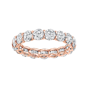 Diamonds Scalloped Eternity Band Rose