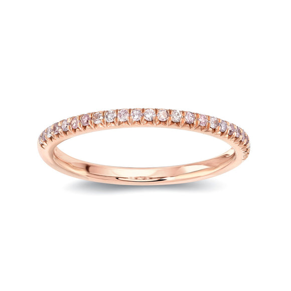 Round Pink Diamond Eternity Band - Half Way - Marc & Mizrahi 14k Stackable Rings and Jewelry in Beverly Hills