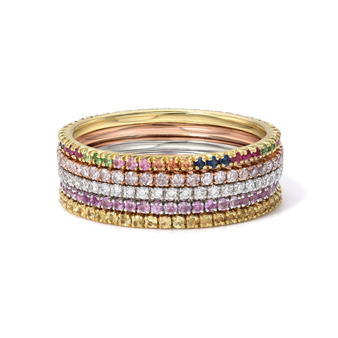 Red Rubys Eternity  Band - Marc & Mizrahi 14k Stackable Rings and Jewelry in Beverly Hills
