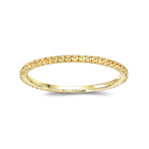 Yellow Sapphires Eternity Band - Marc & Mizrahi 14k Stackable Rings and Jewelry in Beverly Hills