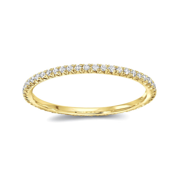 Round Diamond Eternity Band -  Yellow gold - Marc & Mizrahi 14k Stackable Rings and Jewelry in Beverly Hills