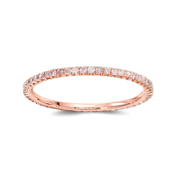 Round Pink Diamond Eternity Band - Marc & Mizrahi 14k Stackable Rings and Jewelry in Beverly Hills