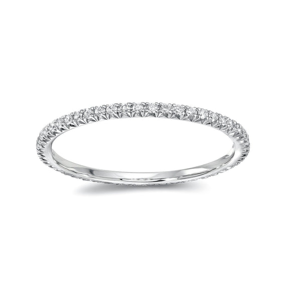 Round Diamond Eternity Band - White Gold - Marc & Mizrahi 14k Stackable Rings and Jewelry in Beverly Hills