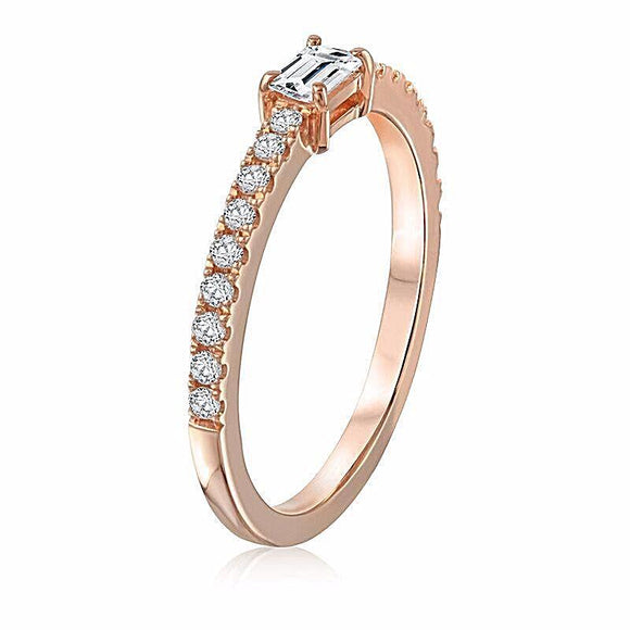 East-West Baguette Ring - Marc & Mizrahi 14k Stackable Rings and Jewelry in Beverly Hills