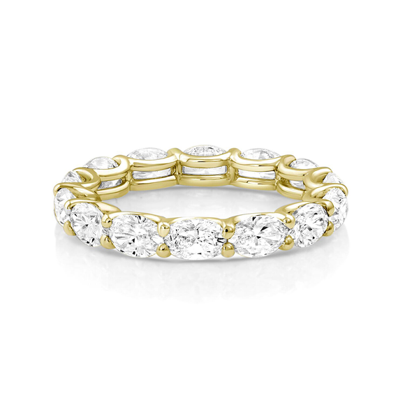 Oval Diamond Eternity Band Yellow Gold - Marc & Mizrahi 14k Stackable Rings and Jewelry in Beverly Hills