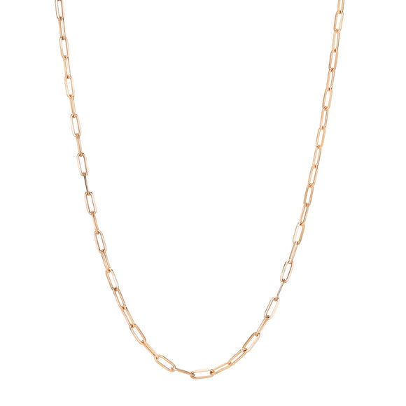 Rose Gold Paper Clip Chain
