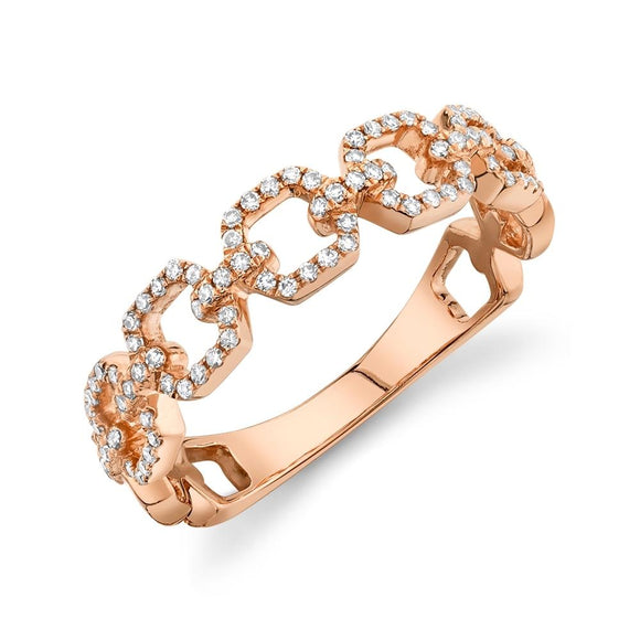 Chain of Love Ring - Square - Marc & Mizrahi 14k Stackable Rings and Jewelry in Beverly Hills