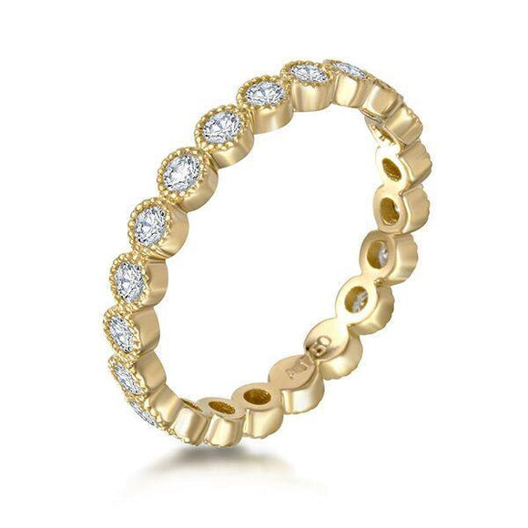 Eternity Ring Milgrain - Large - Marc & Mizrahi 14k Stackable Rings and Jewelry in Beverly Hills