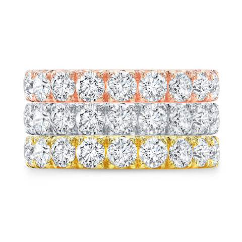White Gold Eternity Band - Marc & Mizrahi 14k Stackable Rings and Jewelry in Beverly Hills