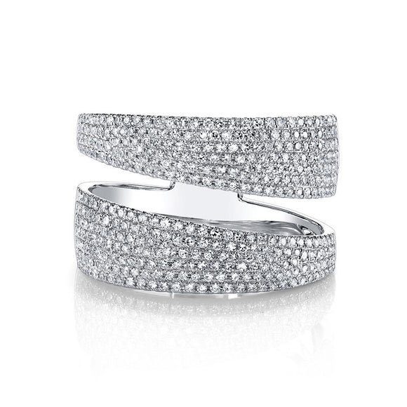 Double band diamond ring - Wide - Marc & Mizrahi 14k Stackable Rings and Jewelry in Beverly Hills