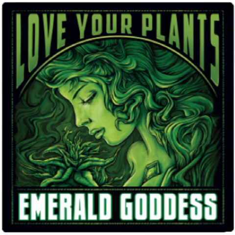 Emerald Goddess Label - Sticker