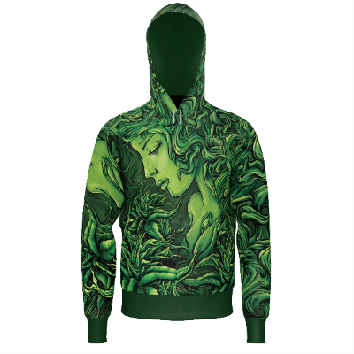 Emerald Goddess - Men's Zip Hoodie