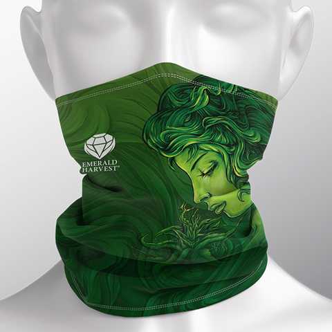 Face and Neck Cover / Gaiter - Emerald Goddess