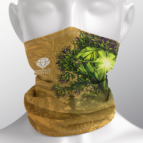 Face and Neck Cover / Gaiter - Emerald Harvest