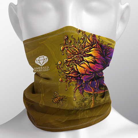 Face and Neck Cover / Gaiter - Honey Chome