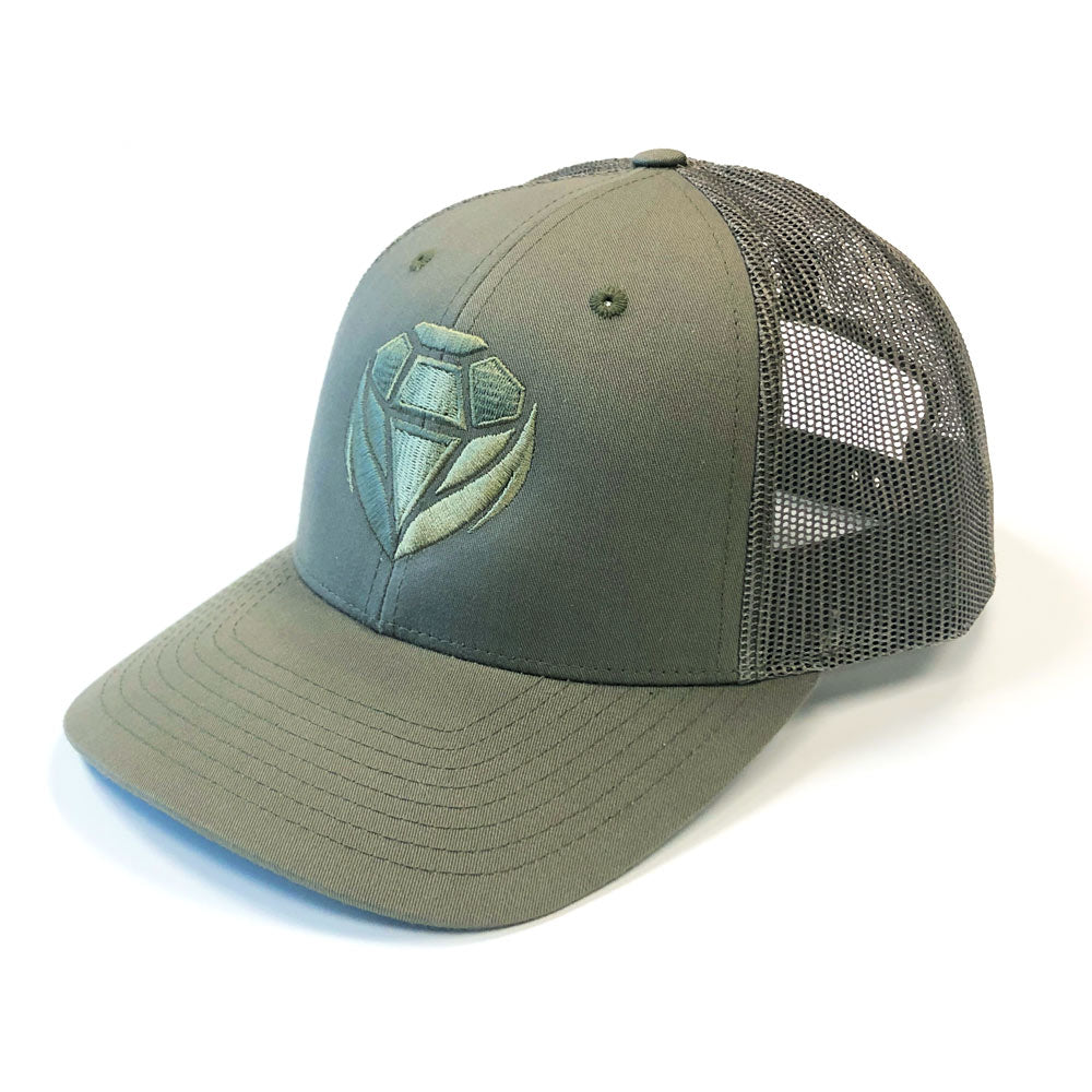 Snap Back Cap - Olive Green