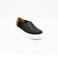 ladies slip on shoes leather