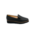 womens slip on black leather shoes