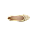 women's flat shoes in beige color