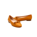 Flat Shoes with Bow in brown color