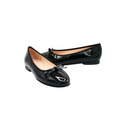 Flat Shoes with Bow in black patent color
