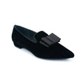 Flat pointed toe shoes with bow for women