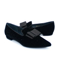 flat pointed toe shoes with bow